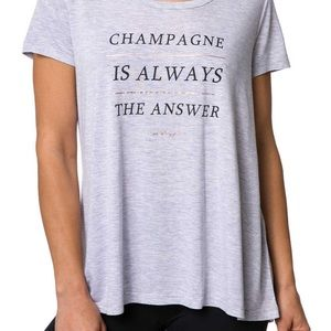 """Betsey Johnson """"Champagne Is The Answer"""" Swing Tee"""